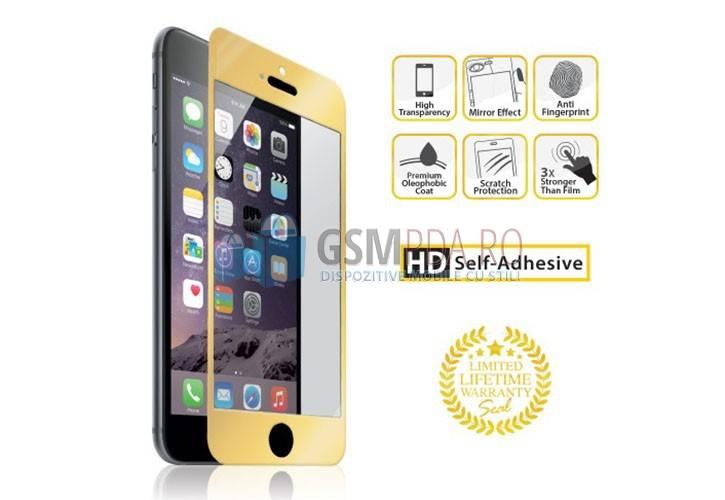 folie sticla gold pentru iphone 6. Black Bedroom Furniture Sets. Home Design Ideas